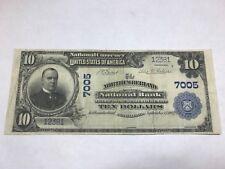 Northumberland   Pennsylvania ,national bank , 1902,$ 10 , very Fine