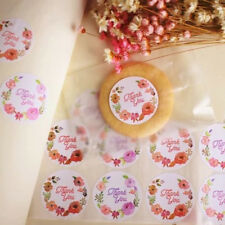 120pcs Flower Design Stickers Paper Labels Thank You Seals For Gifts Bags NEW