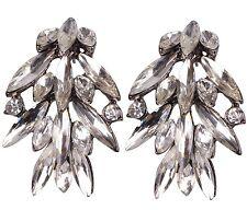 2018 Fashion Jewelry White Crystal Rhinestone Ear Drop Dangle Stud Earrings 06