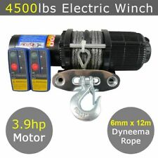 12V 4500lbs 4500lb Electric Winch Dyneema Rope 12m Quad Boat Trailer ATV Car Blu