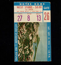 OPC 9-21-1974 Notre Dame at Northwestern Dyche Stadium Ticket Stub 49-3
