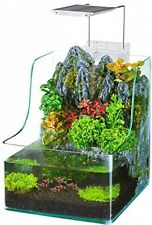 Penn Plax Aqua Terrarium Planting Tank With Aquarium For Fish, Waterfall, LED