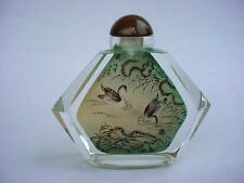 WONDERFUL Chinese Hand Interior Reverse-Painted  Crystal Snuff Bottle. RARE