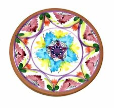 ITALIAN Ceramic Dish Multi Color Design Decorado A Mano - Italy Wall Hanging 8""