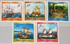 PAPUA NEUGUINEA NEW GUINEA 1987 543-47 Sailing Ships Schiffe Segelschiffe MNH