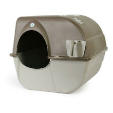 NEW Omega Paw Self Cleaning Cat Kitty Litter Box LARGE Roll Away Pewter!
