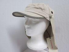 NWT M Stetson Military Cadet Cap w/ Detachable Neckflap - Khaki -UPF50+ sun hat