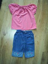 La Redoute Vertbaudet Pantalón Conjunto Edad 12 meses-Suave Jeans, Guinga Gitano Top
