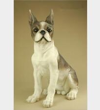 "13.2"" Creative large Resin Lifelike Boston Terrier Statue Figure Sculpture"