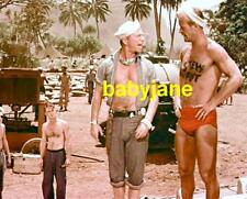 010 KEN CLARK SOUTH PACIFIC SEXY BARECHESTED IN BATHING SUIT COLOR PHOTO