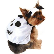 HALLOWEEN SKULL SKELETON BLACk WHITE DOG COSTUME NEW W/ TAGS M / L Medium Large