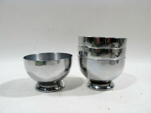 Art Deco Chrome Chase Barware Set 4 Gaiety Cocktail Cups