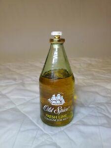 Vintage Original Old Spice FRESH LIME AFTER SHAVE LOTION 4 3/4 fl oz Splash on