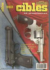 CIBLES N°263 TAURUS PT 92 / FUSIL D'ASSAUT / KNIGHT M.85 / RPG 2 ET 7 /REMINGTON