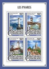 AFRIQUE CENTRALE REP 2016 neuf sans charnière Phares Lindau Sandy Hook Kullen 4 V M/S timbres