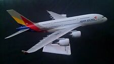 Asiana Airlines 1/200 scale Airbus A380-800 model plane