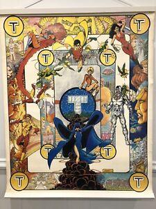 "Large rare New Teen Titans poster, 1983 DC Comics 24"" x 30"" George Perez."