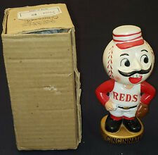1960's CINCINNATI REDS - MLB - BOBBING /BOBBLE HEAD /NODDER with BOX - ORIGINAL