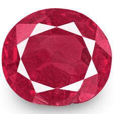 Moderate Natural Oval Loose Rubies