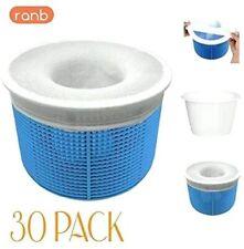 Ranb 30 Pack Swimming Pool Spa Skimmer Basket Socks - Filter Saver Net