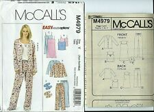 M 4979 sewing pattern CAMISOLE Top NIGHTGOWN Pants SLIPPERS sizes 4-6,8-10,12-14