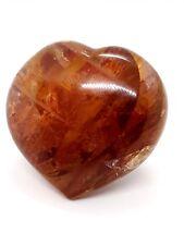 Healer Quartz Heart Madagascar 190g High Grade Quartz & Hematite