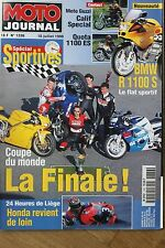 MOTO JOURNAL N°1336 YAMAHA YZF 1000 R1 SUZUKI GSX-R 750 24 HEURES LIEGE 1998