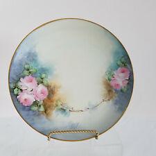 Hermosa Vintage Decorativo Diseño Floral Blanco y Dorado placa reticulada Borde