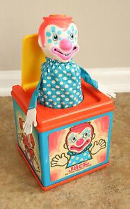 Vtg 1976 Mattel Jack the Music Box Clown Jack-in-the-box Works Pop Goes Weasel