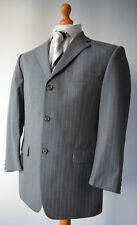 """Mens Grey Pinstriped YSL, Yves Saint Laurent Pure Wool Suit, Size 40"""" W34"""" L26""""."""