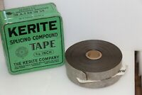 "Vintage Kerite Splicing Compound Tape 3/4"" Tin Green Two Rolls"