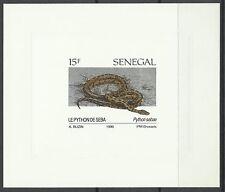 Senegal Reptiles Serpents Python de Seba Snakes Epreuve Imperf Die Proof ** 1991