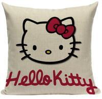 Hello Kitty H1 Cushion Pillow Cover Sanrio Japanese White Yuko Shimizu Cat Bow