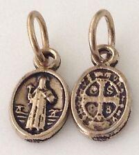Medalla  de san Benito proteccion para todo lo negativo 1/2 Pulgada Oval