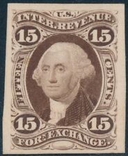 #R39P4 PLATE PROOF ON CARD VF 15¢ FOREIGN EXCHANGE CV $325 BS8713