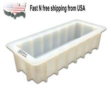 "Rectangular White Silicone DIY Rectangle  DIY Mould Loaf Soap Mold 10"" US Stock"