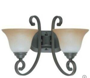 Nuvo Lighting 60-2756 Montgomery  2 Light  Sanbury Bronze Vanity Wall Light