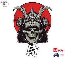 Japanese Skull Warrior Car Motorcycle Truck Sticker 15cm x 10.5cm