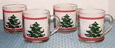 "Set of (4) Waechsterbach Christmas Tree 3 1/2"" 10 oz. Thermal Mugs - EXCELLENT"