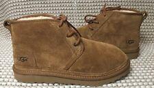 UGG Neumel Chestnut Suede Sheepskin Chukka Ankle Boots Shoes Size US 9 Mens NEW