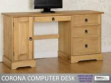 Corona Mexican Solid Pine Waxed Computer Study Desk Table Workstation