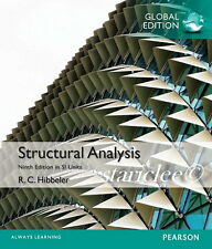 NEW Structural Analysis 9E Russell C. Hibbeler 9th Global Edition in Si Units