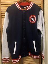 Captain America Avengers Marvel 2015 Varsity Style Jacket Large