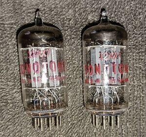 (2) Vintage Telefunken/Sonotone 12AX7/ECC83 Audio Tubes, Germany, TV-7 Tested.
