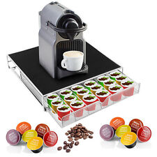 Coffee Machine Pod Storage Drawer Tray Organizer Rack Stand 36 Pods Holder US