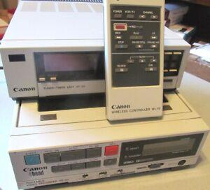 CANON~ VR-30~  4-Head  Portable VHS Recorder + VT-30 Tuner Timer -WL-10 Remote