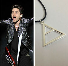 30 Seconds To Mars Silver Plated Triangle Geometric Pendant Necklace Rope Chain