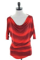 INC INTERNATIONAL CONCEPTS Womens Tunic Top Size 10 Small Red