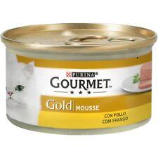 Gourmet Mousse con Pollo 24x85g Latas para Gatos Comida Húmeda
