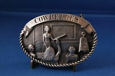 Iowa Cattlemen Cow Belles Belt Buckle National Beef Cook-off 1986 Limited Ed
